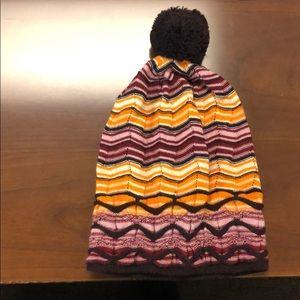 Missoni Chevron Knit Beanie Hat